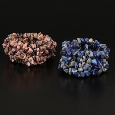 Lapis Lazuli and Rhodonite Expandanble Bracelets