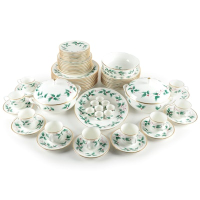"Mikasa ""Ribbon Holly"" Bone China Dinnerware"