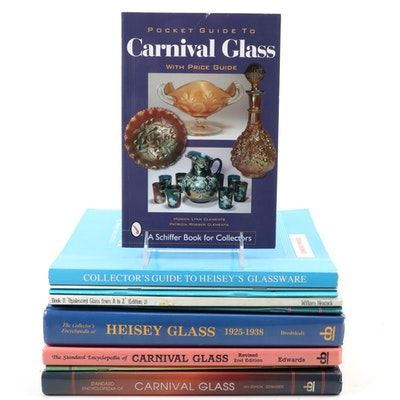 Heisey, Opalescent, and Carnival Glass Reference Books