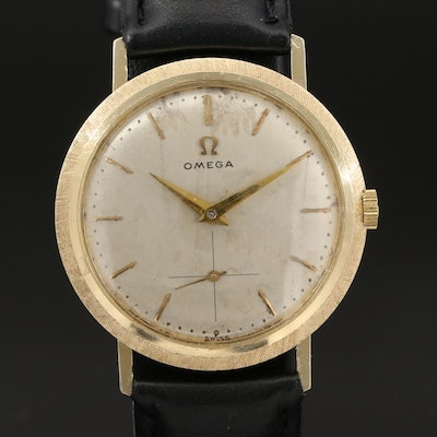 1961 Omega 14K Yellow Gold Stem Wind Wristwatch