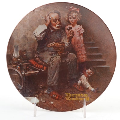 """Knowles Rockwell Heritage Collection """"The Cobbler"""" Collector's Plate, 1978"""