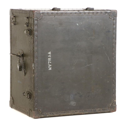Texas Trunk Co. Inc. Portable Military Field Desk Crate, 1950s