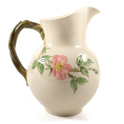 "Franciscan ""Desert Rose"" Earthenware Pitcher"