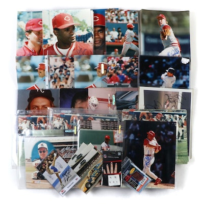 Signed Photographs Featuring Cincinnati Reds, Bengals and Others