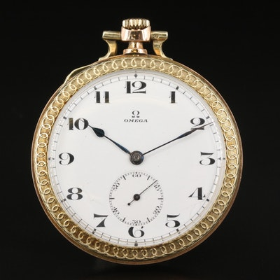 Omega Two-Tone 14K Pocket Watch