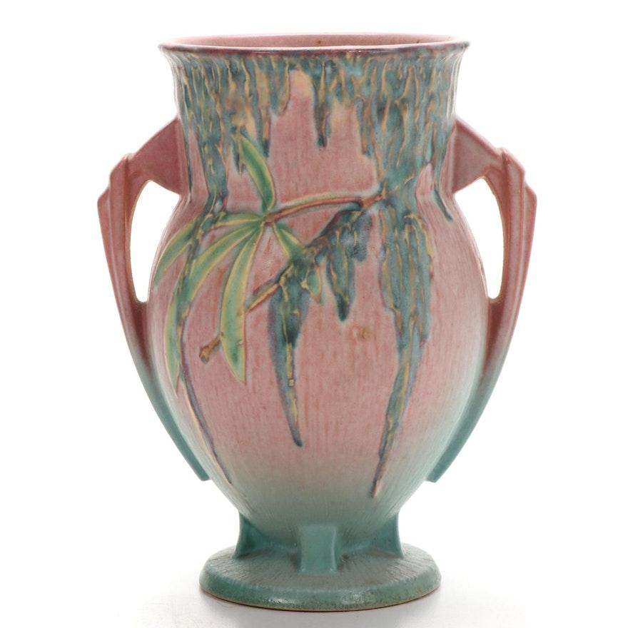 "Roseville Pottery ""Moss Peach"" Amphora Vase, 1936"