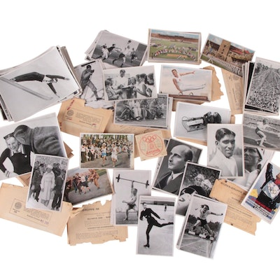 1936 Berlin Olympic Cards Includes Jesse Owens and Sonja Henie