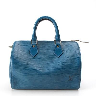 Louis Vuitton Speedy 25 in Toledo Blue Epi Leather