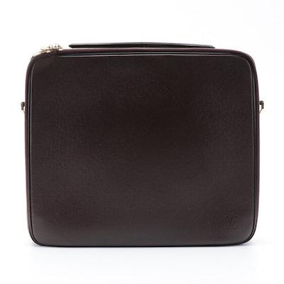 Louis Vuitton Odessa Laptop Bag in Burgundy Taïga Leather