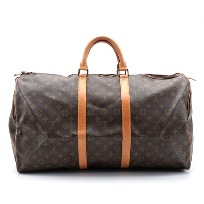 Louis Vuitton Keepall 55 in Monogram Canvas