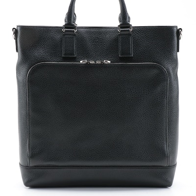 Gucci Cosmopolis Pocket Tote in Black Grained Leather