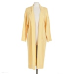Fabrikant Couture for Neiman Marcus Yellow Wool Knit Duster Cardigan