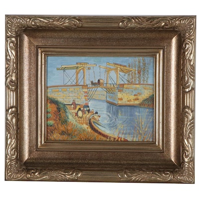 "Oil Painting after Vincent van Gogh ""The Langlois Bridge at Arles"""