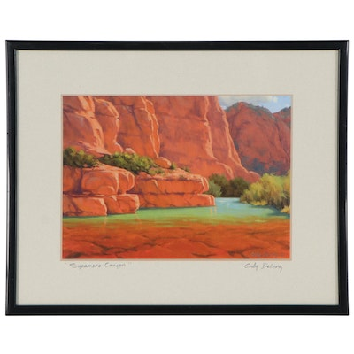 "Cody DeLong Giclée ""Sycamore Canyon,"" Late 20th Century"