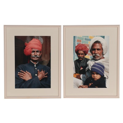 Color Portrait Photographs of People from India, Late 20th Century