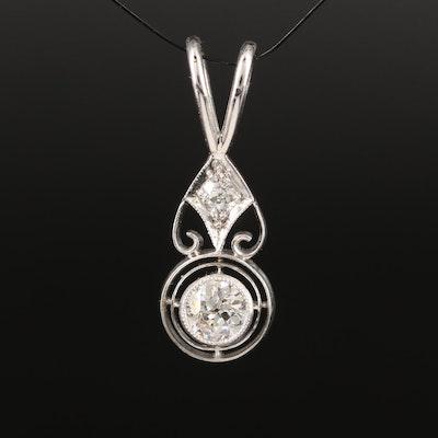 Vintage Platinum Diamond Pendant