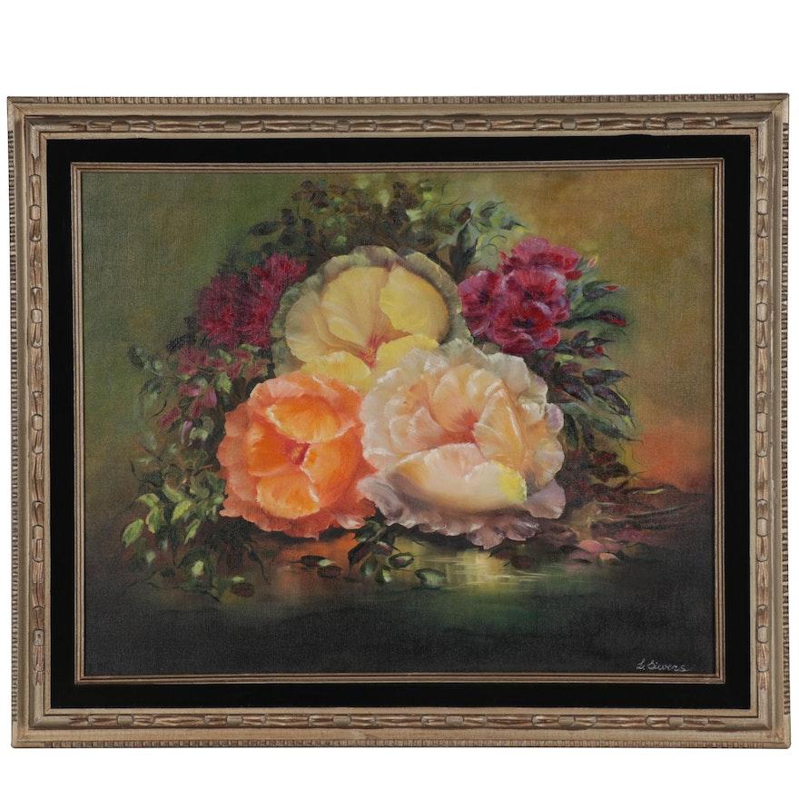 "Larissa Sievers Oil Painting ""Magic Flowers,"" 2020"