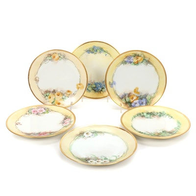 Bernardaud and Jaeger & Co. Bavarian Limoges Porcelain Plates