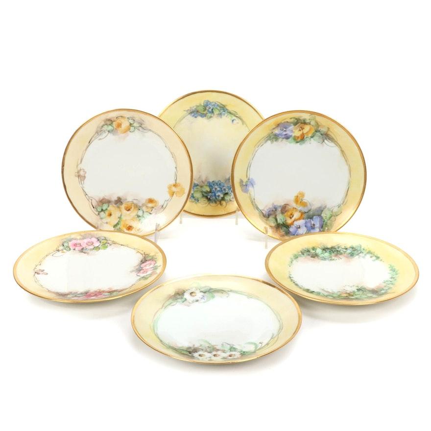 Bernardaud and Jaeger & Co. Bavarian Limoges Porcelain Plates