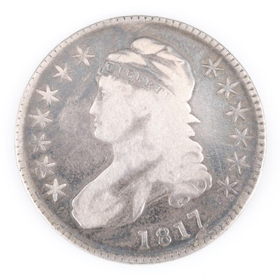 1817 Capped Bust Lettered Edge Silver Half Dollar