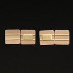 Vintage Larter & Son for Tiffany & Co. 14K Textured Square Cufflinks