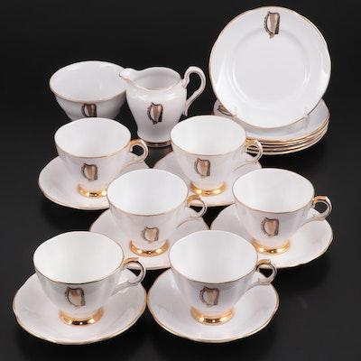 Royal Tara Harp Motif Bone China Teacups, Saucers and More