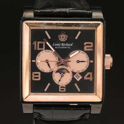 Louis Richard Triple Calendar Automatic Wristwatch