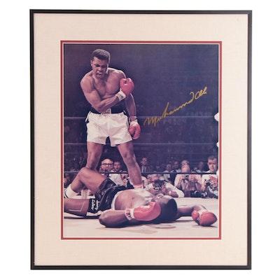 Muhammad Ali Signed Sony Liston Print with Visual COA