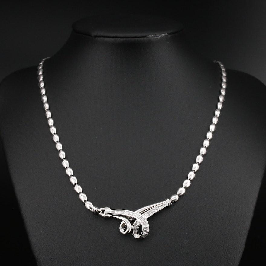 14K 1.02 CTW Diamond Necklace