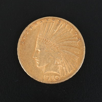 1910 Indian Head $10 Gold Eagle
