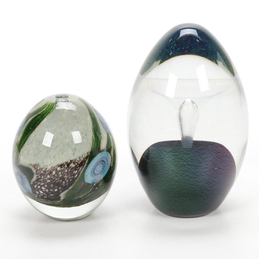 Robert Eickholt Handblown Art Glass Paperweights