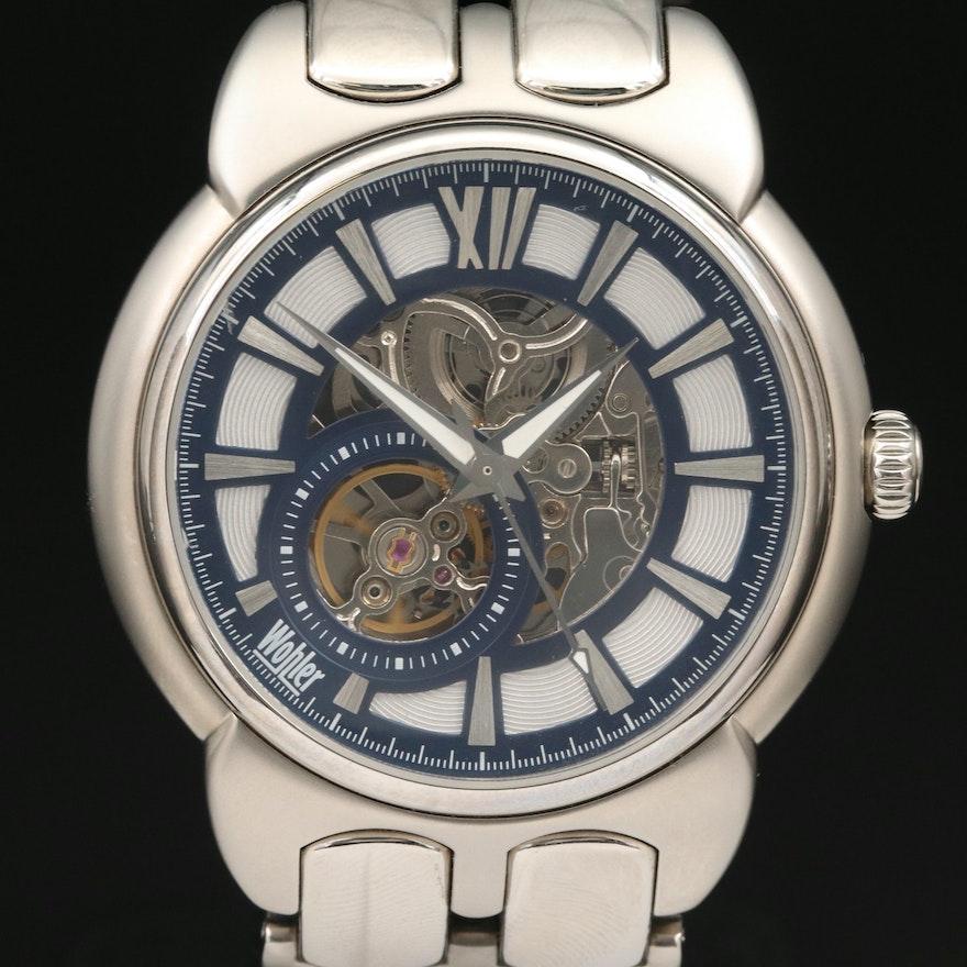 Wohler Skeleton Dial Wristwatch