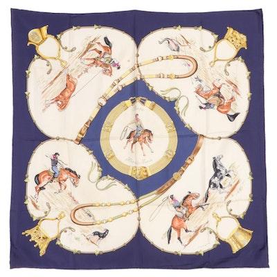 """Hermès """"Pampa"""" Silk Twill Scarf"""