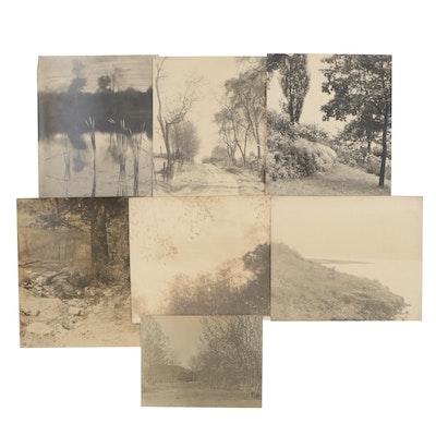 Charles A. Weddigen Silver Gelatin Pictorialist Landscape Photographs