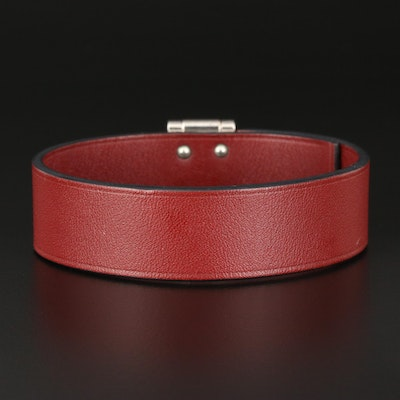 "Hermès ""Depeche Box"" Leather Bracelet"