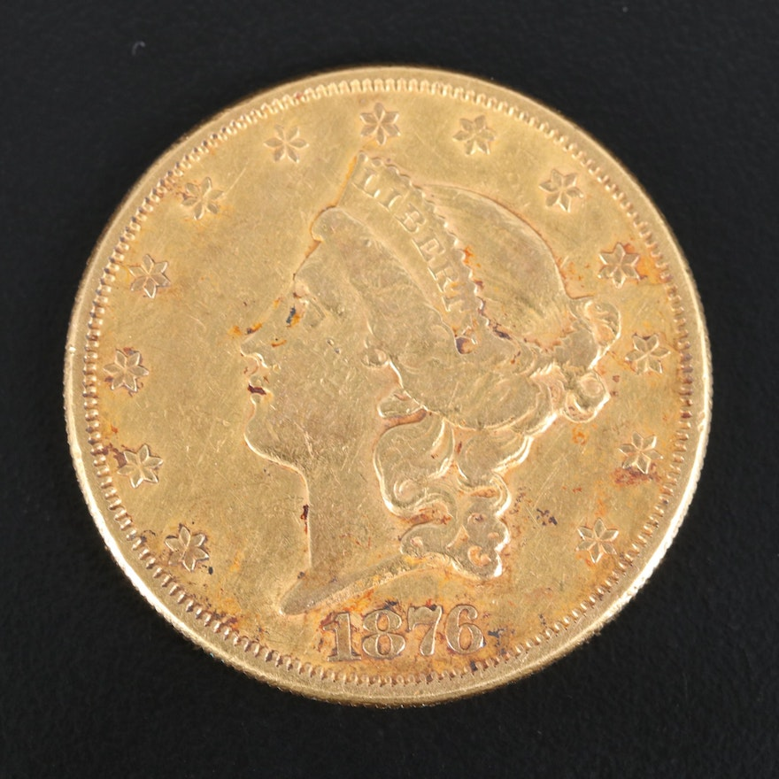 1876-S Liberty Head $20 Gold Double Eagle