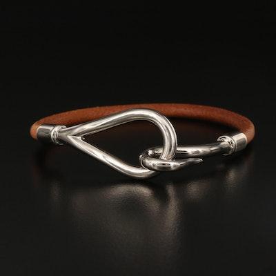 Hermès Jumbo Hook Leather Bracelet