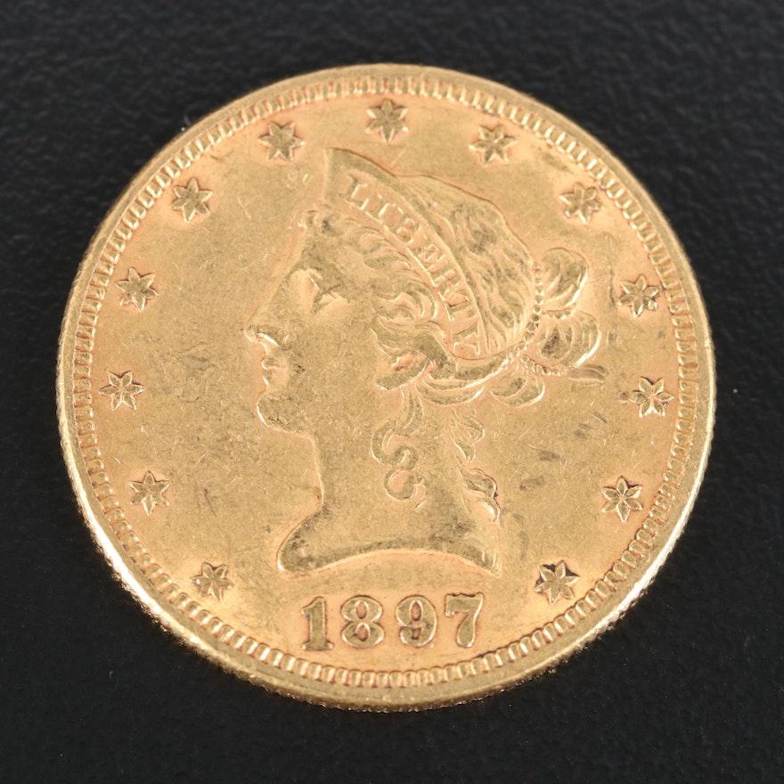 1897 Liberty Head $10 Gold Eagle