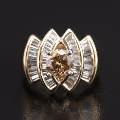 14K 2.23 CTW Diamond Ring