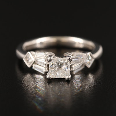 Gabriel & Co. 14K Diamond Ring with GIA Report