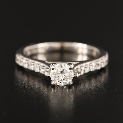 18K Diamond Cathedral Ring