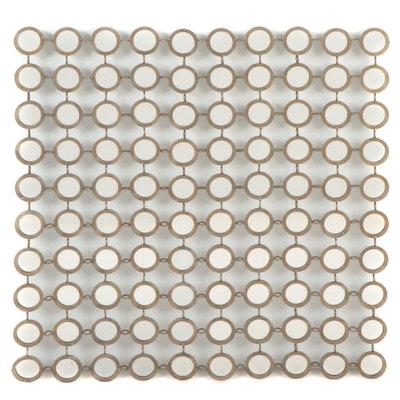 Circle Grid Pattern Decorative Wall Mirror