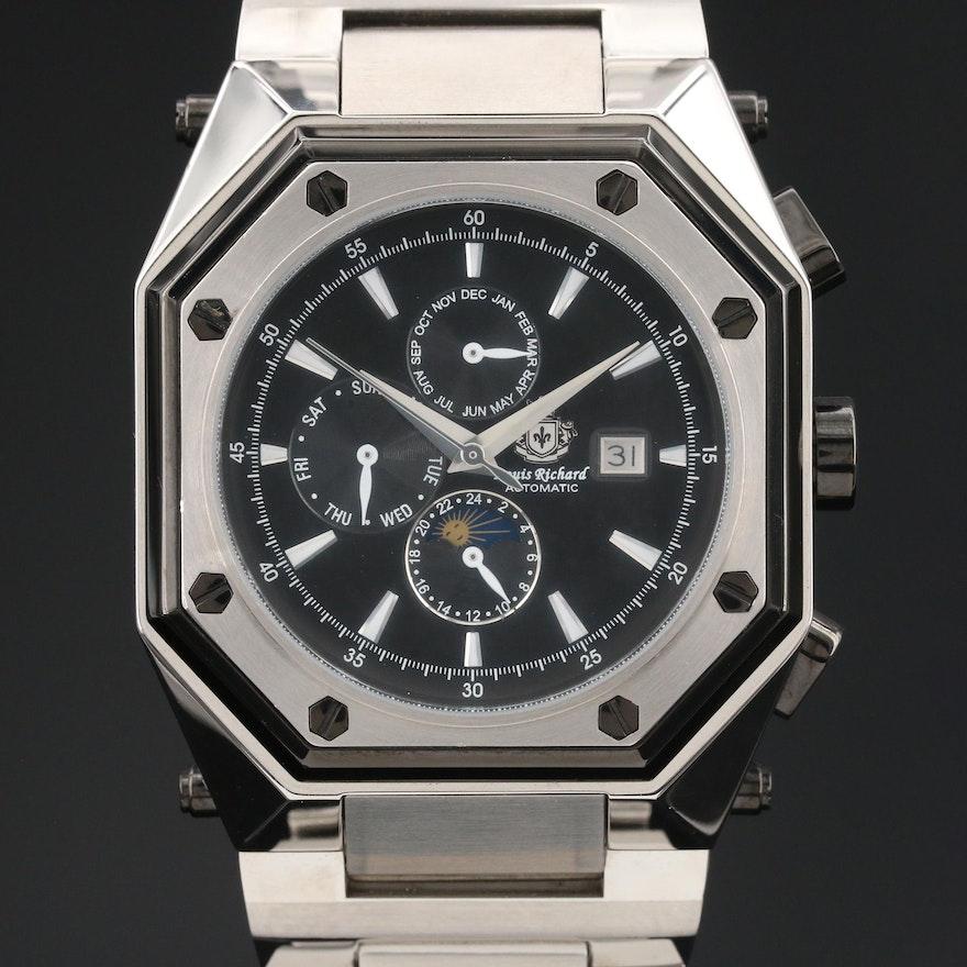 Louis Richard Triple Calendar Wristwatch