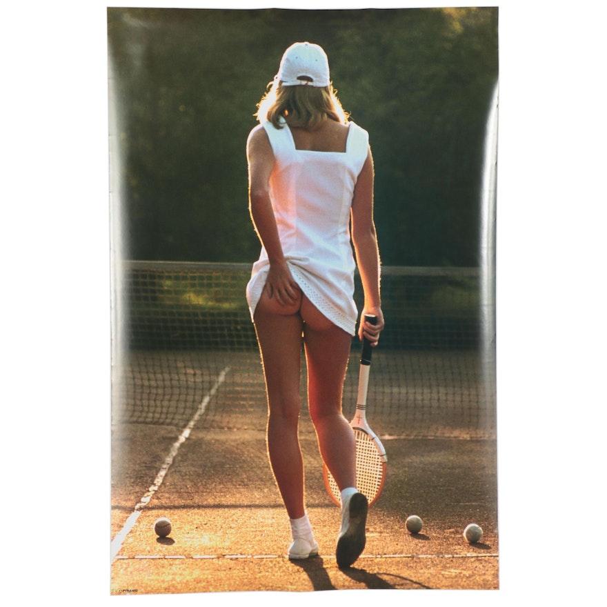 """Offset Lithograph after Martin Elliot """"Tennis Girl"""""""