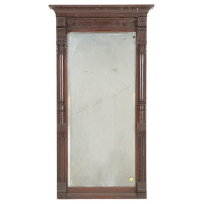 Victorian Mahogany Pier Mirror, Mid/Late 19th Century