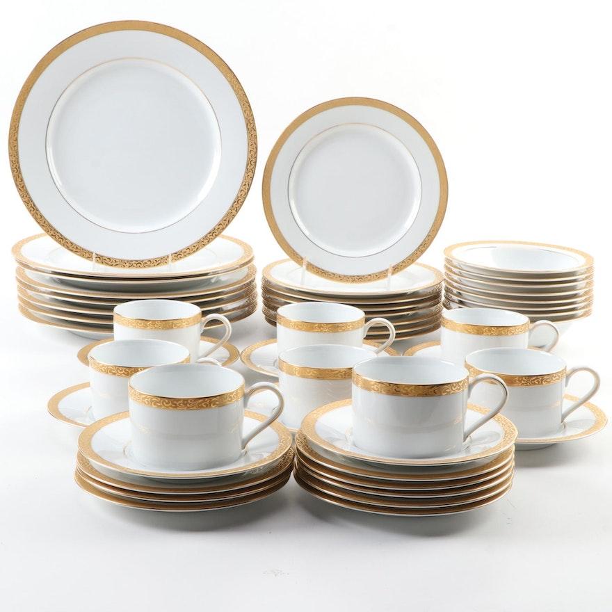"""Nikko """"Gold Filigree"""" Porcelain Dinnerware, 1993–2013"""