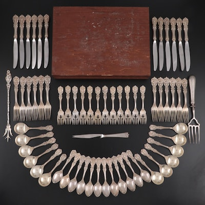 "Reed & Barton ""Francis I"" Sterling Silver Flatware with Silver Serving Utensils"
