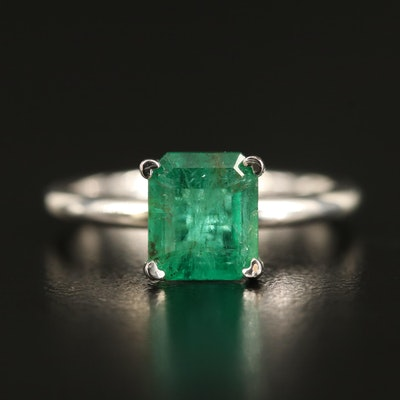 14K 1.58 CT Emerald Ring