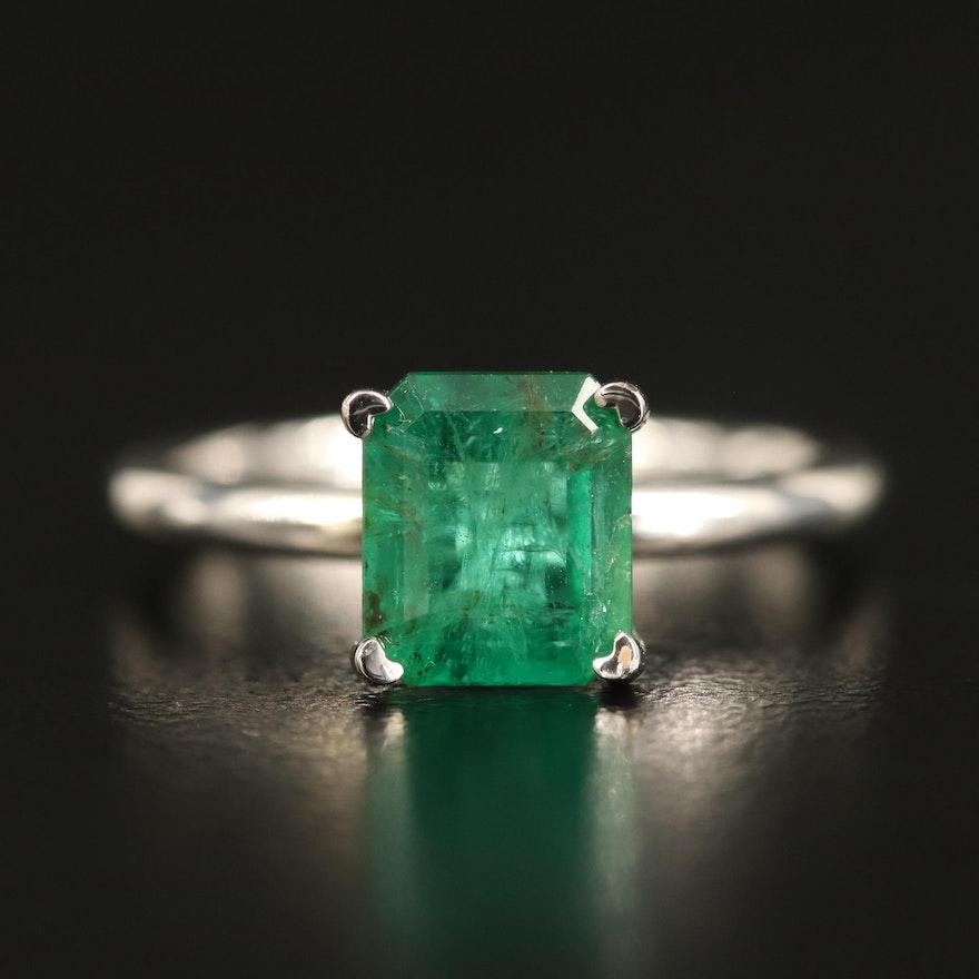 14K 1.58 CT Emerald Ring