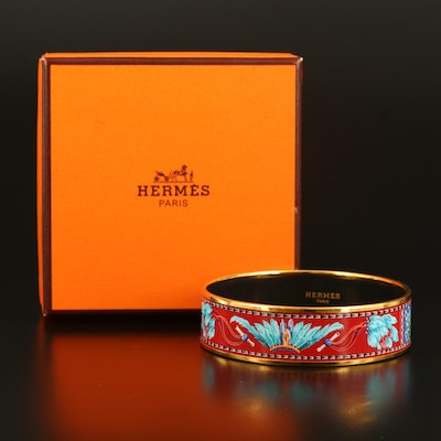 "Hermès ""Feather"" Enameled Bangle"